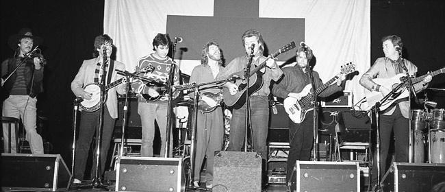 Mark O'Connor, Bela Fleck, Vince Gill, Sam Bush, Ricky Skaggs, John Cowan, Pat Flynn, 1985